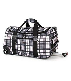 J World® Tamarak Tartan Grey Rolling Duffel Bag