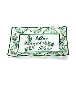 Pfaltzgraff® Winterberry Live, Laugh, Love Platter