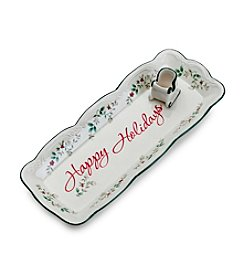 Pfaltzgraff® Winterberry Appetizer Tray with Toothpick Holder