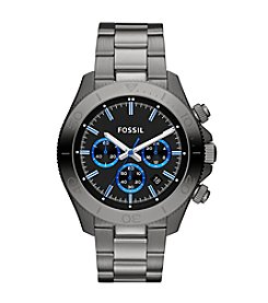 Fossil® Men's Retro Traveler Grey Watch With Blue Accents