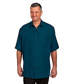 Cayon Ridge® Men's Big & Tall Short Sleeve Textured Microfiber Button-Down Shirt