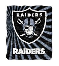 Oakland Raiders Sherpa Throw
