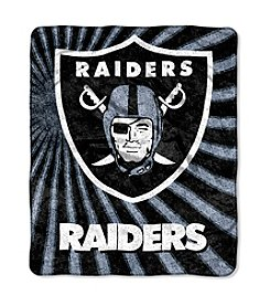Oakland Raiders Sherpa Throw