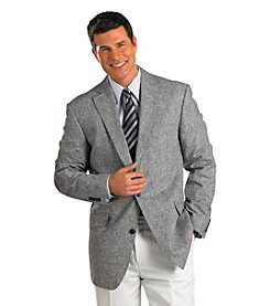Oak Hill® Men's Big & Tall Black/White 2-Button Glenplaid Sport Coat