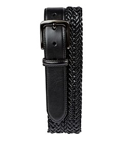 Harbor Bay® Men's Big & Tall Stretch Braided Leather Belt with Silver Buckle