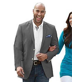 Oak Hill® Men's Big & Tall Continuous Comfort 2-Button Chambray Sport Coat