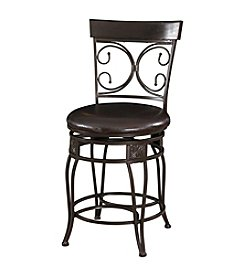 Powell® Big and Tall Back to Back Scroll Counter Stool