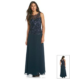 J Kara® Lace Bodice Long Dress