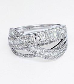 Effy® 1.13 ct. t.w. Baguette Diamond Ring in 14K White Gold