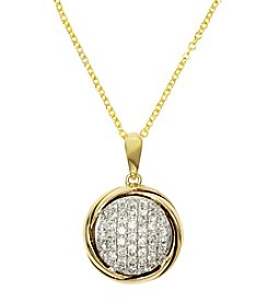 Effy® .28 ct. t.w. Diamond Pendant in 14K Yellow Gold