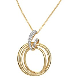 Effy® .09 ct. t.w. Diamond Pendant in 14K Yellow Gold