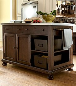 Universal Furniture® River House Kitchen Island in River Bank Finish