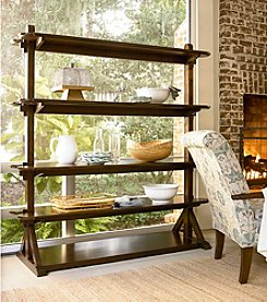 Universal Furniture® River House Pantry Rack in River Bank Finish