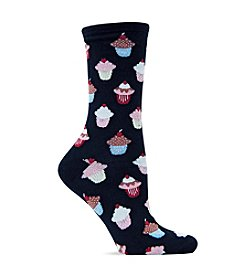 Hot Sox Black Cupcakes Trouser Socks