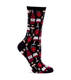 Hot Sox® Black Wine Crew Socks
