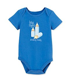 Cuddle Bear® Baby Boys' Polar Blue Drinking Buddy Bodysuit