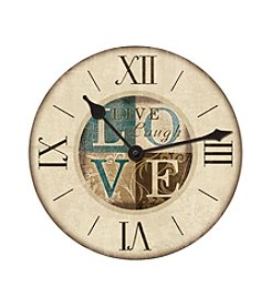 FirsTime Live Laugh Love Wall Clock
