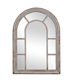 Sheffield Home® Shabby White Windowpane Mirror