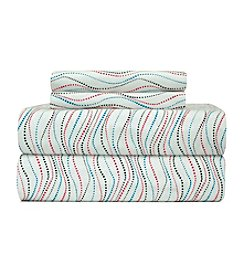 Pointehaven Heavy-Weight Metro Printed Flannel Sheet Set