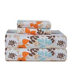 Pointehaven Heavy-Weight Winter Breeze Printed Flannel Sheet Set