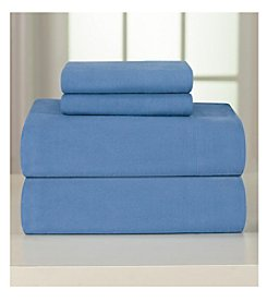 Pointehaven Heavy-Weight Solid Flannel Sheet Set