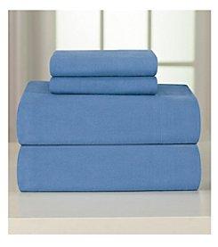 Pointehaven Heavy-Weight Solid Flannel Sheet Set