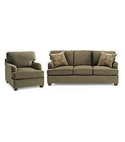 Bauhaus Captain Basil Microfiber Sofa & Chair Set