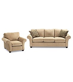 Bauhaus Mineral Tan Microfiber Sofa & Chair Set