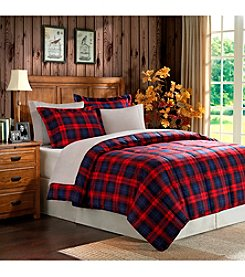 Home Essence MacLachlan Red Plaid Microfiber Down-Alternative Comforter Mini Set