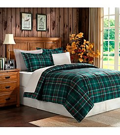 Home Essence Sutherland Green Plaid Microfiber Down-Alternative Comforter Mini Set