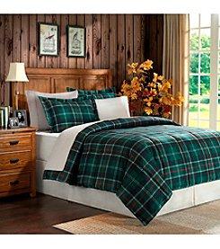 Home Essence Sutherland Green Plaid Microfiber Down-Alternative Comforter Mini Set