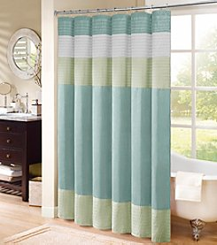Madison Park® Chester Aqua Shower Curtain