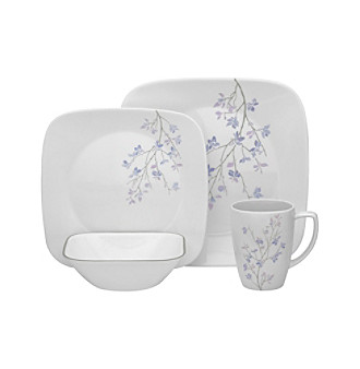 corelle square jacaranda 16 pc dinnerware set