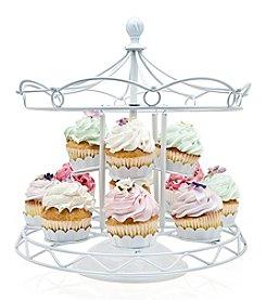 Godinger® Whtie Carousel Cupcake Holder
