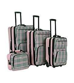 Rockland 4-pc. Plaid Luggage Set