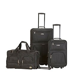 Rockland Black 3-pc. Luggage Set