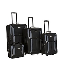 Rockland Black and Gray 4-pc. Luggage Set