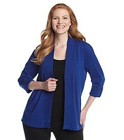 Laura Ashley® Plus Size Tab Sleeve Cardigan