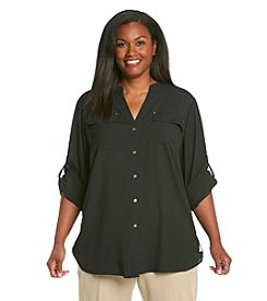 Calvin Klein Plus Size Buttondown Shirt