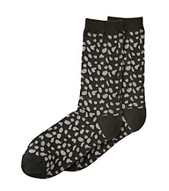 Relativity® Leopard Print Crew Socks