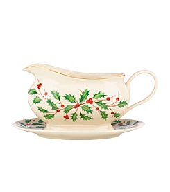 Lenox® Holiday Gravy Boat with Stand