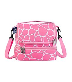 Wildkin Pink Giraffe Double Decker Lunch Bag