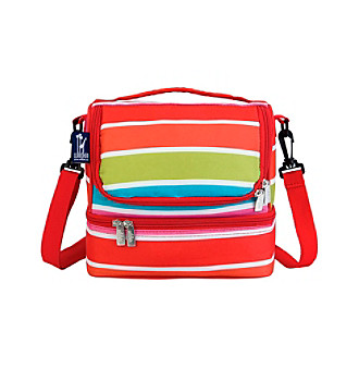 Wildkin Bright Stripes Double Decker Lunch Bag