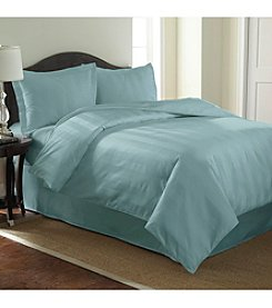 Pacific Coast Textiles® 1,000-Thread Count 3-pc. Woven Dobby Stripe Reversible Duvet Set
