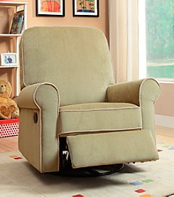 PRI Ashewick Crave Fern Swivel Glider with Accent Piping