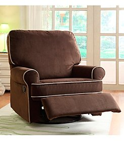 PRI Birch Hill Stella Swivel Glider Recliner with Accent Piping
