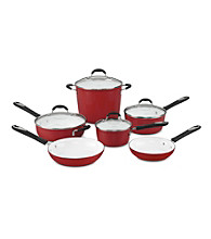 Cuisinart® Elements 10-pc. Red Cookware Set + FREE Stainless Steel Bowls and Prep Set