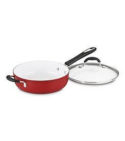 Cuisinart® Elements 5.5-qt. Red Covered Saute Pan with Helper Handle