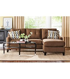 HM Richards Espresso Townhouse Sofa Chaise