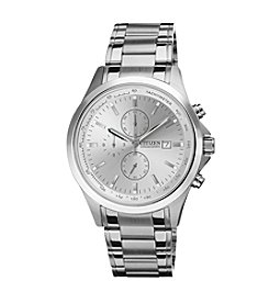 Citizen® Quartz Men's Silvertone Chronograph Watch